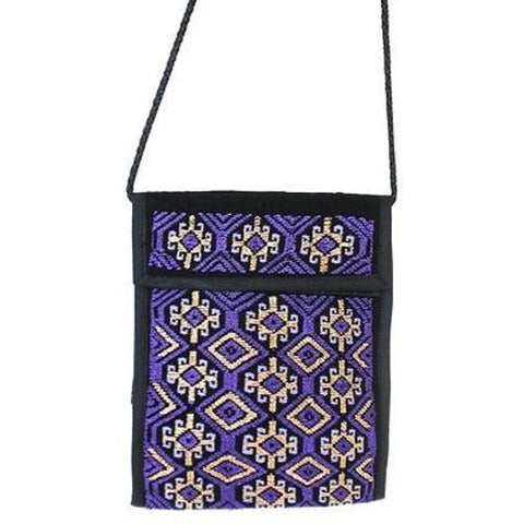 Nahuala Silky Passport Wallet in Purple Handmade and Fair Trade