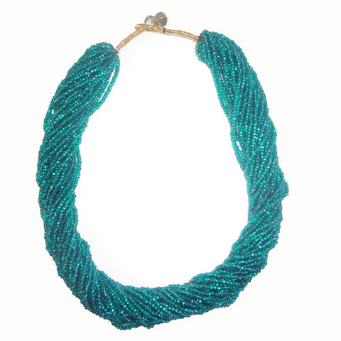 Glass Beads Necklace - Multiple Color Nepal