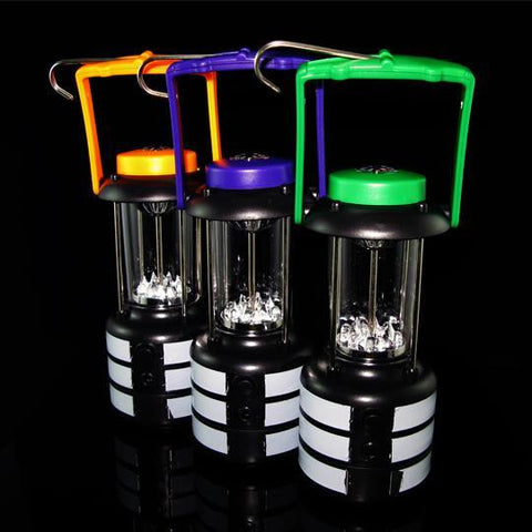 Bright Outdoor 9 LED Lantern-Color Purple
