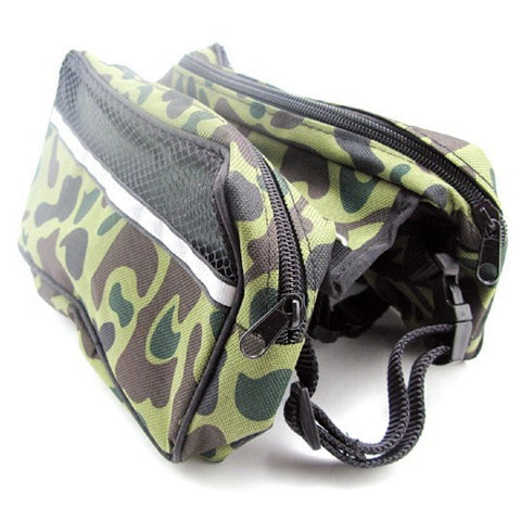 Small Dog Green Camouflage Backpack