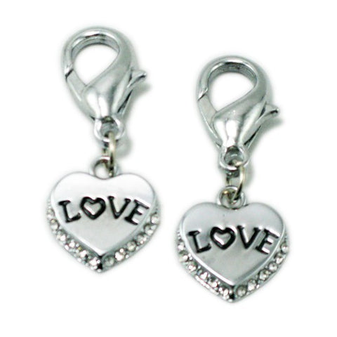 Silver Heart Dog ID Tag