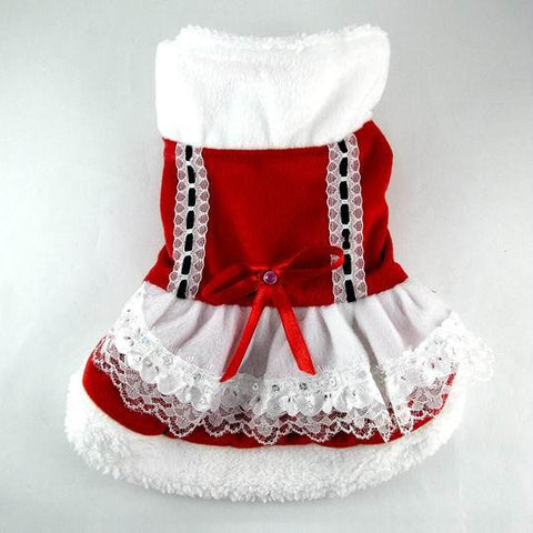 Red and White Dog Dress-Size 14
