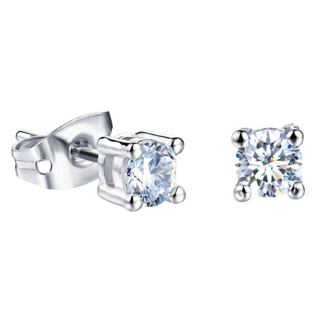 Four claws ms diamond stud earrings Han edition jewelry 3A diamond plating yao-wei joining set earrings-Size 4mm