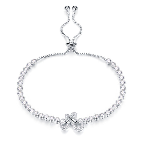 Korean fashion platinum plated butterfly full diamond bracelet Jewelry exquisite female small sweet temperament