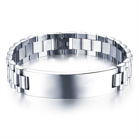 Vendors recommend simple smooth wide version of titanium steel male act the role ofing is tasted bracelet jewelry exports