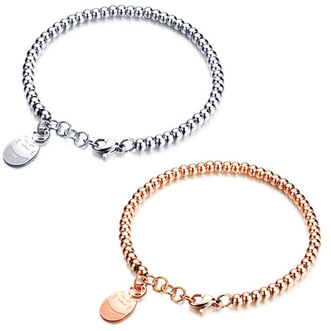 Han edition fashion plutus cat bracelet titanium steel plating for women Allergy free accessories-Color Ecru