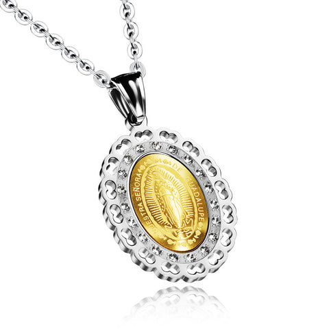 Act the role ofing is tasted Europe and the United States virgin Mary ms gold plated stainless steel pendant kaiyun jewelry