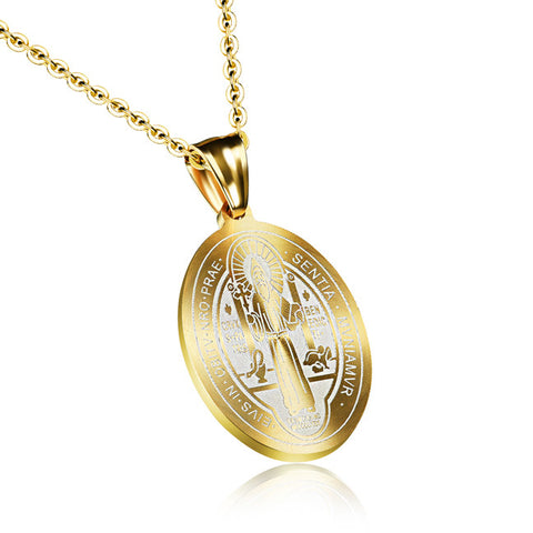 New Christian Catholic cross pendant Titanium steel Middle East religious first act the role ofing is tasted ms necklace
