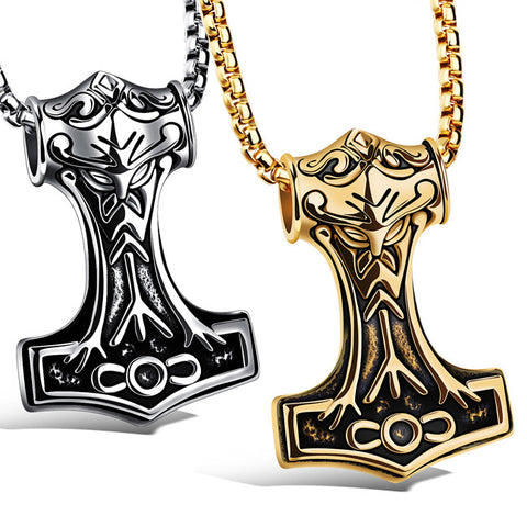 Personality quake pendant A proud man titanium steel necklaces cool gift Send her boyfriend-Color Ecru