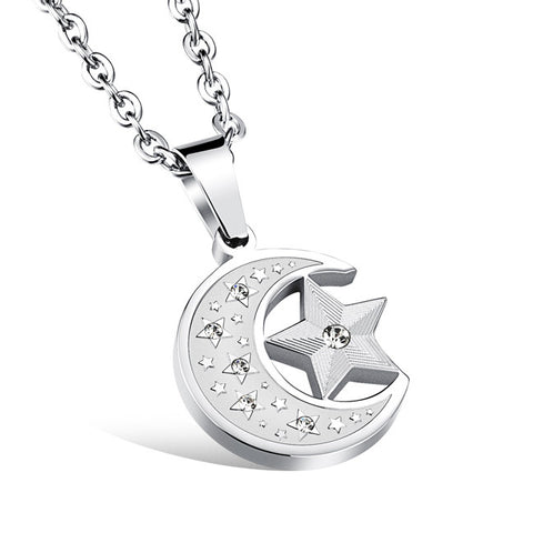 The stars the moon titanium steel pendant accessories men pendant blind