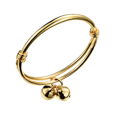 Baby baby bracelet 18K innocent and lively bell mouth hand ring Children's bracelet auspicious gift