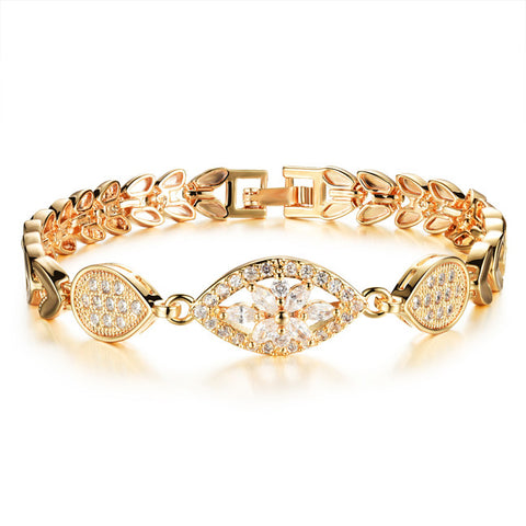 Ms set auger grain zircon bracelet plating 18K modification with accessories European and American fashion accessories