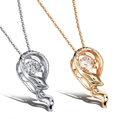 Microscope pendant plating Bai Jinling snakes Three-dimensional dangling female necklace Champagne gold plated-Color Gold