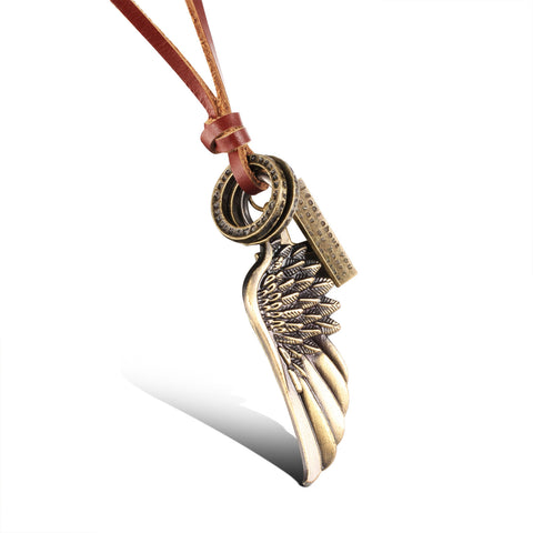 Han edition the contracted cool men deserve to act the restoring ancient ways Angel's wing pendant cortex sweater chain