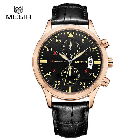 Man quartz watches top Luxury brands fashion leather men calendar military high quality wristwatch
