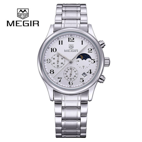 Men Luxury Brand Quartz Watches Fashion Reloj Hombre Stainless Steel Water Resistant Wristwatches