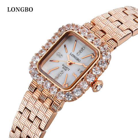 Womens watches case with rhinestone Ladies Fashion Quartz Watches High Quality Waterproof