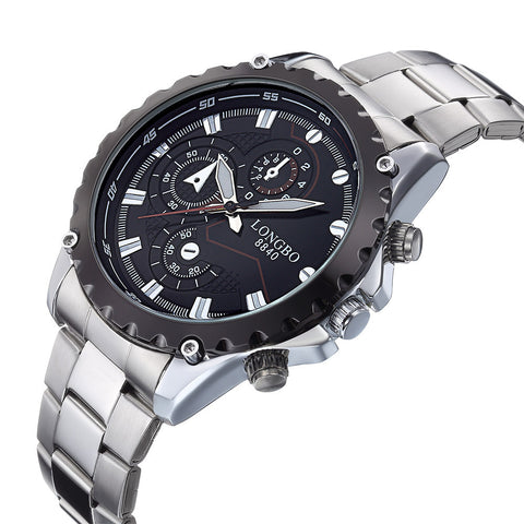 Casual sports mens watch 3 dial decoration quartz mens watch waterproof commercial male watch