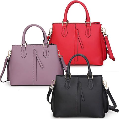 New 2016 leather handbag fashion style hand shoulder slope across packages-Color Red
