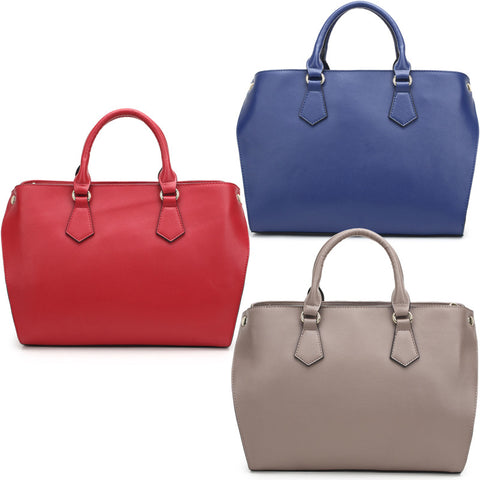 New leather handbag euramerican style big large capacity hand shoulder slope across packages-Color Blue