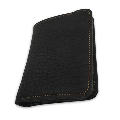 Man's short crazy horse leather wallet