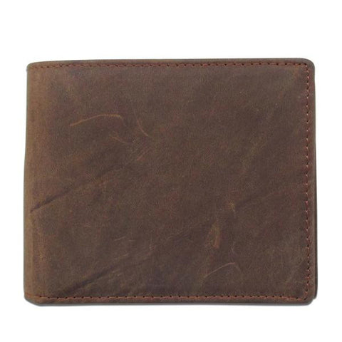 Man's short leather wallet