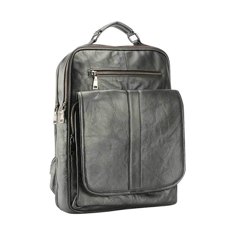 Leather  Men or women neutral backpack