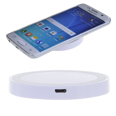 QI wireless charger D006 round wireless charge base emitter -WHITE