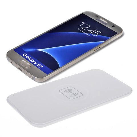QI wireless charger D007 rectangle wireless charge base emitter -WHITE