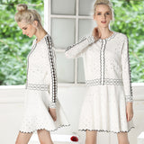 Fine knit  to winter Dress suit small hollow out female sexy dress