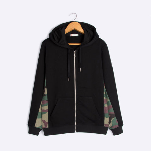 The new zipper hooded fleece tide camouflage man cotton cardigan coat recreational men's clothing