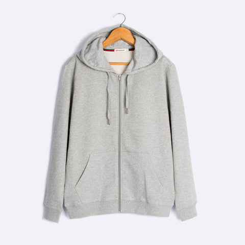 The new 2016 zipper hooded fleece men cotton cardigan fleece casual sport men's fleece jacket