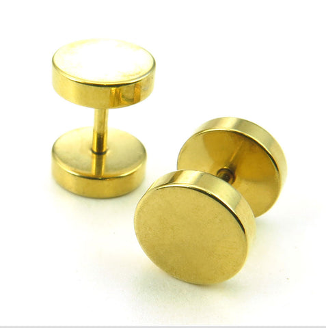 Stainless steel round cake Earrings