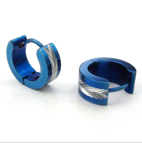 Stainless steel blue earrings wholesale