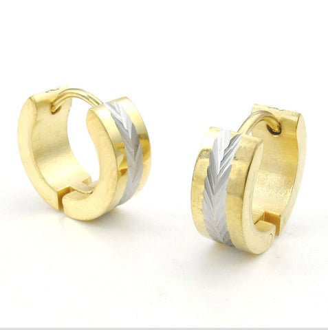 Stainless steel gold earrings wholesale