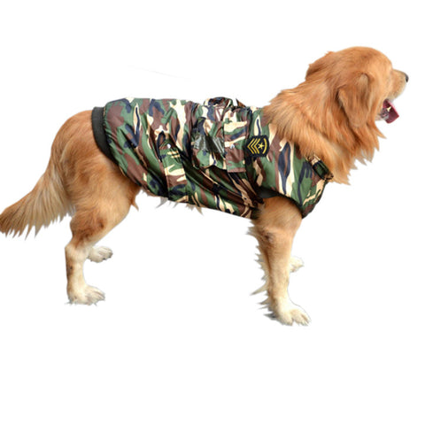 Pet dog dog dog padded vest dress clothing pet clothes winter camouflage dog clothes thickened