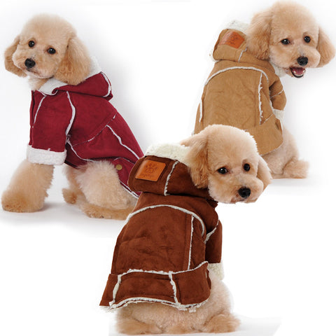 New pet pet lamb legs clothes clothing-Color Winered