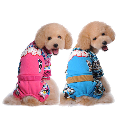 New winter snow world pet pet clothes-Color Blue