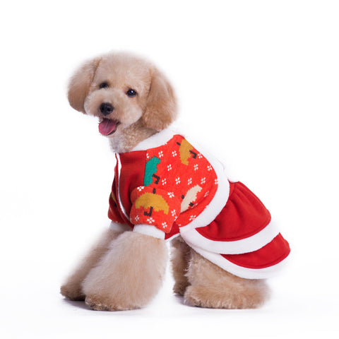 Pet pet pet dog clothes Christmas Christmas Christmas cotton padded clothes