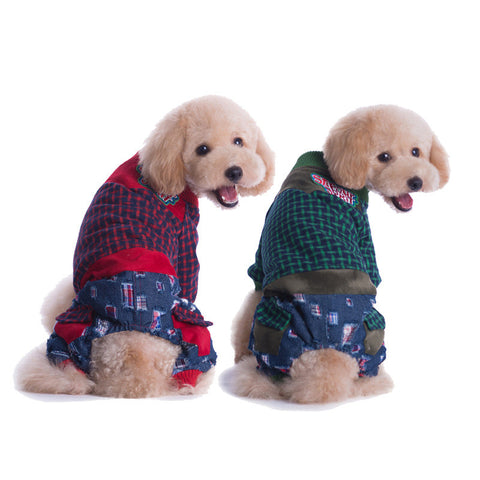 New pet pet pet winter cotton padded clothes of high quality modern neutral-Color Red