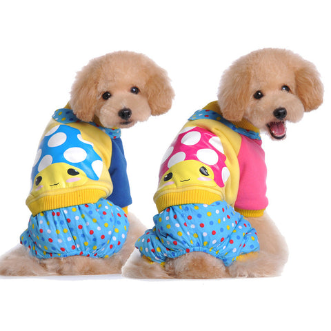 Pet clothes autumn and winter high quality pet clothes cute-Color Blue