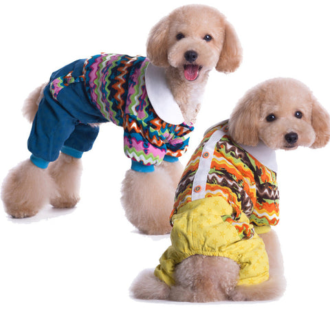 Thickened pet clothes pet clothes high quality autumn and winter models-Color Yellow
