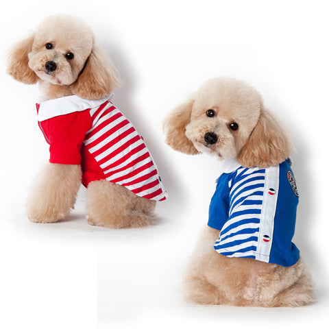 Sales of New dog clothes pet autumn clothing pet clothing dog-Color Blue