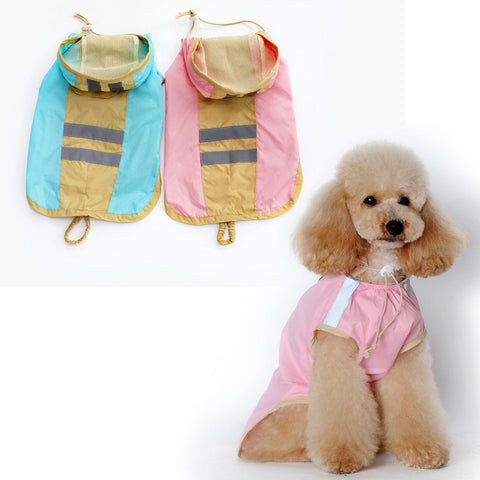 New pet raincoat The dog dog raincoat clothing pet 2 legs raincoat-Color Pink