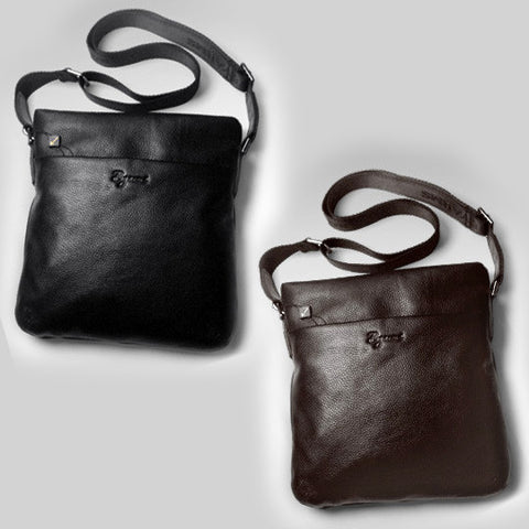 Cowhide Leather Bag Shoulderbag for Men's Fashion Accessories Business