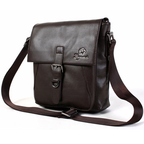 Byarms Dyed Leather Shoulder Bag for Casual Men's Fashion-COLOR Brown
