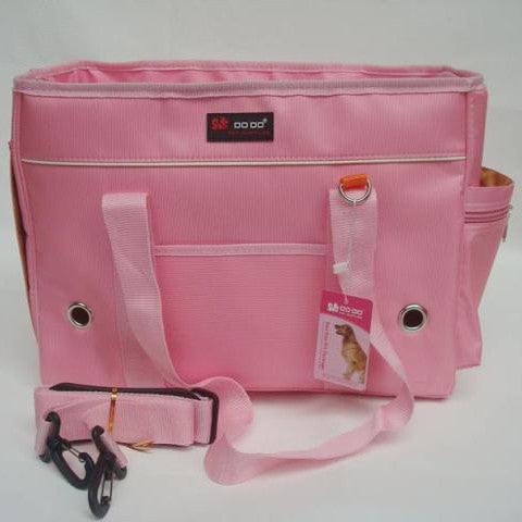 Two Toned PU Pet Carrying Bag for Adorable Dogs Accessory PINK Colored Finish