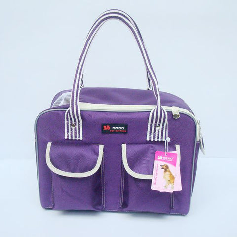 Sturdy PURPLE Colored Pet or Dog Carrier Bag Shoulderbag for Pet Lovers