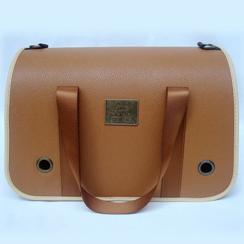 Vintage Design BROWN Colored Pet Carrying Side Bag Shoulderbag for Travel Dogs