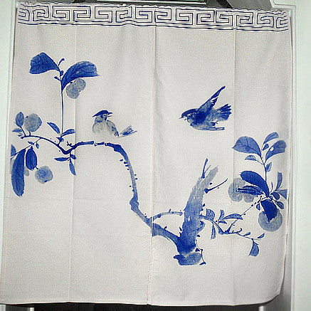 Hmong Traditional Chinese Bird Design Cotton Curtain